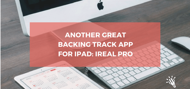 Another great backing track app for iPad: iReal Pro