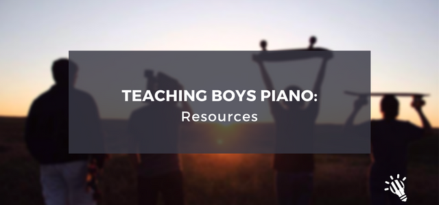 Teaching boys piano