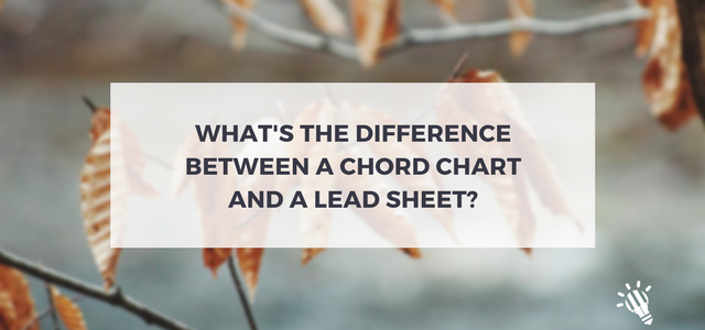 difference between chord chart lead sheet