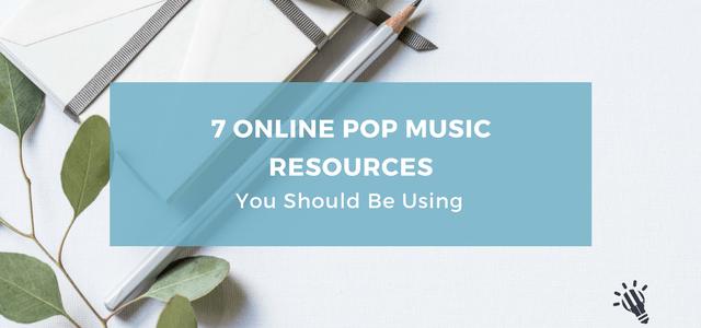 online pop music resources