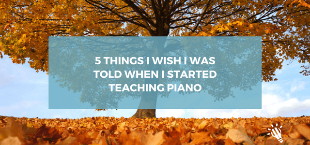 5 things start piano teaching
