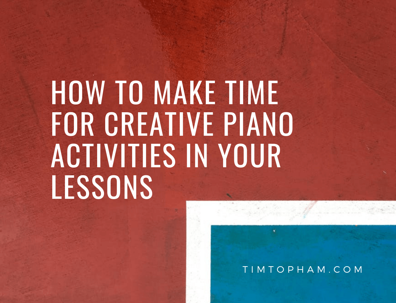 creative piano activities