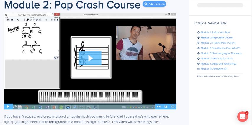 Take a Look Inside my Pop Piano Teaching Course - Creative