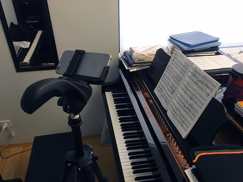 Tripod & piano